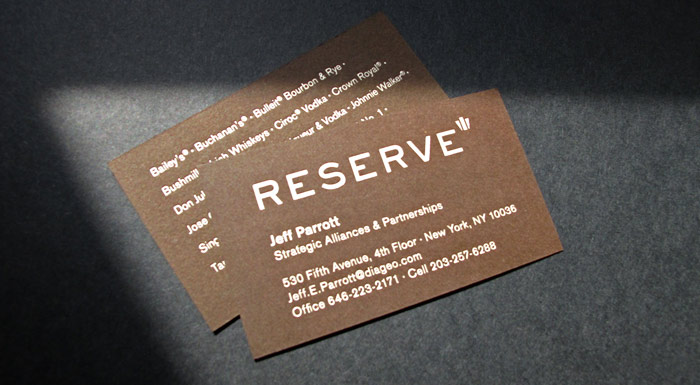 RESERVE Business Cards